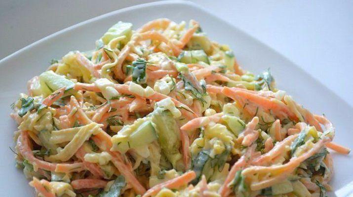 Простой и вкусный рецепт салата «Лисичка»