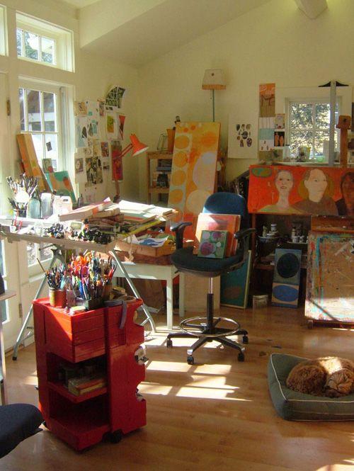 Susy Pilgrim Waters's studio