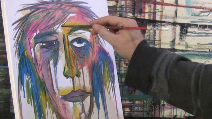 Acrylic Portrait Painting Tutorial | Ep 1 | Beautiful Lady ...