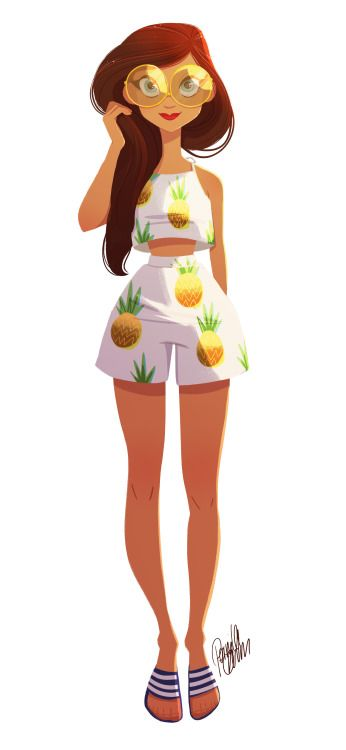 """pernilleoe: """" Who doesn't love a summer set with pineapple prints :) """""""