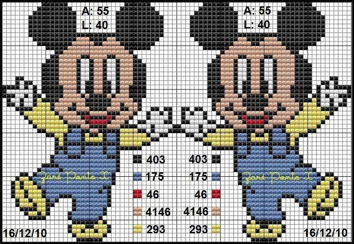 Gráficos do Mickey em Ponto Cruz para Bordar Toalhas Infantis – Idéias e Fotos Lindos gráficos do Mickey em ponto cruz, para você bordar toalhas infantis.