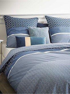 be1f97bf29c Ropa de cama adulto - Juego de cama doble estampado - Kiabi 37 ...