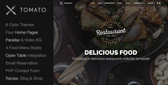 Tomato is a Modern, Creative & Responsive HTML5 Restaurant Website Template. It can also be used as Cafe Website Template, Recipe Website or any other Food Related Website. Running a Restaurant? or...