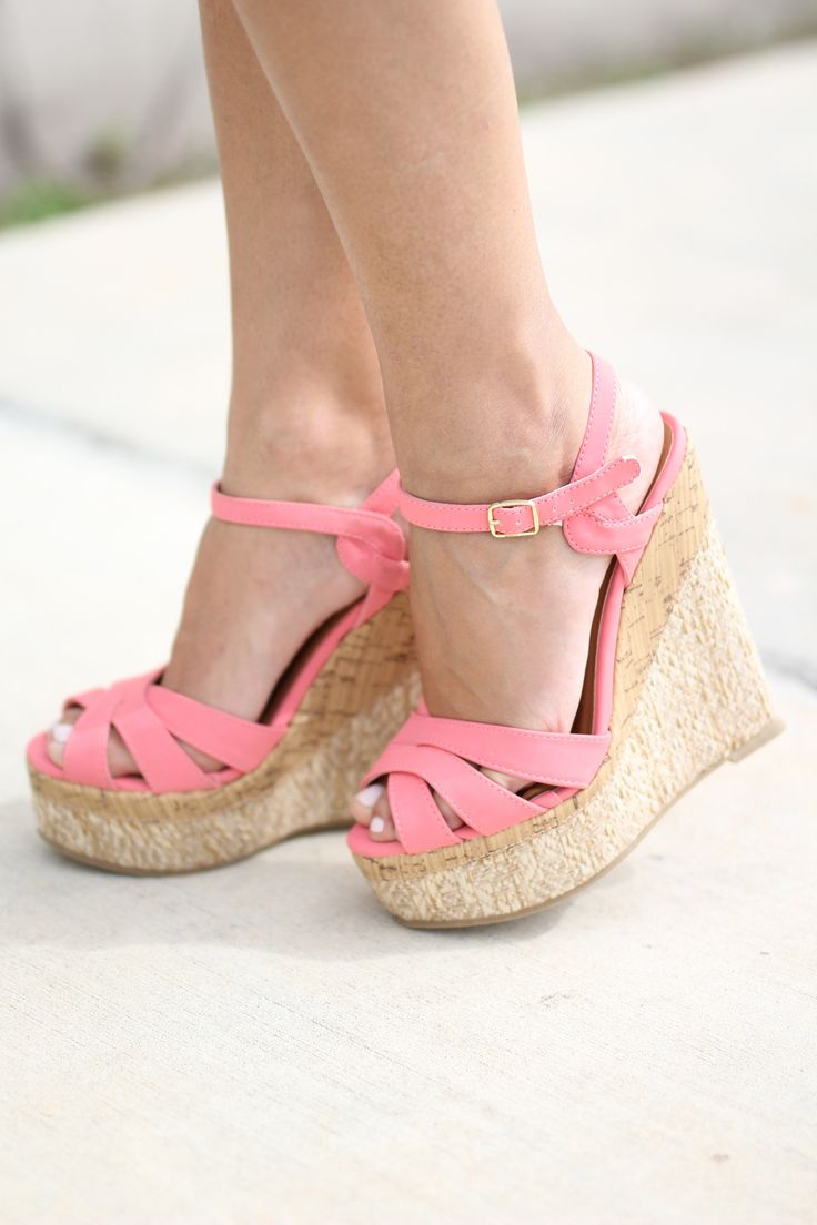 OH MY GOSH!! We are in love with these must have Coral Wedges! They can easily be dressed up or dressed down! The perfect casual wedge with a pop of color! Spring has sprung and you'll have a skip in