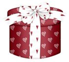 Red Heart Round Gift Box PNG Clipart