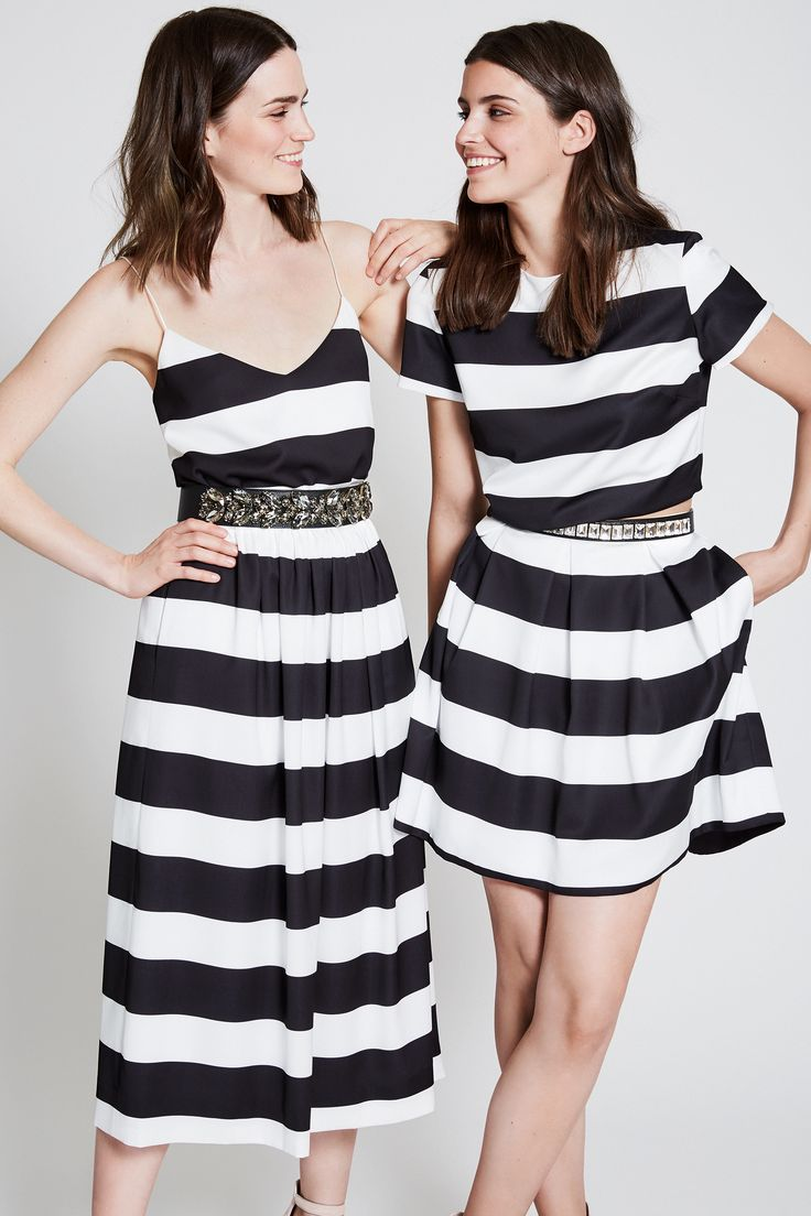 black white stripes - mix and match your perfect dress - crystal belt lovers - party dresses