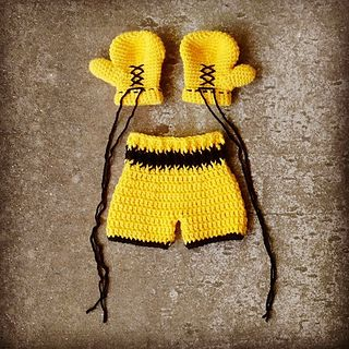This boxing outfit is a great outfit for those little fighters!