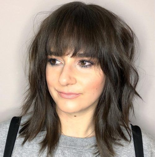 Medium hairstyles with bangs: our latest favorites, #bangs #favorites #hairstyle