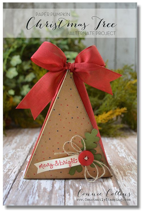 OctoberPaperPumpkin-002 - Connie Collins great alternative My Paper Pumpkin Project - Christmas tree box