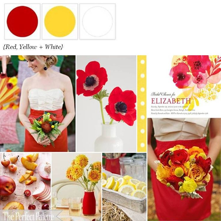 27 best red yellow wedding images on Pinterest | Bridal bouquets ...
