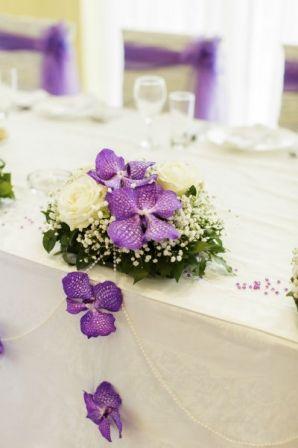Centre de table mariage fleuri