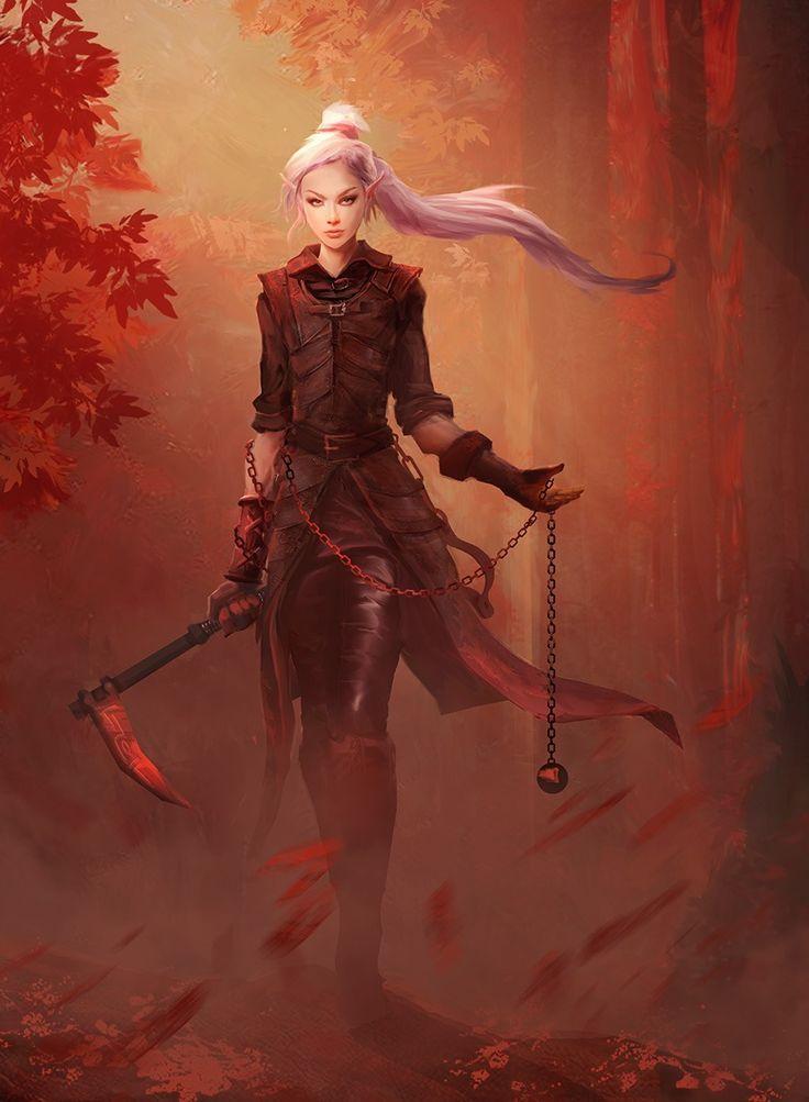 Elfenfrau Schurke – #Elf #Frau #Wald #Schurke