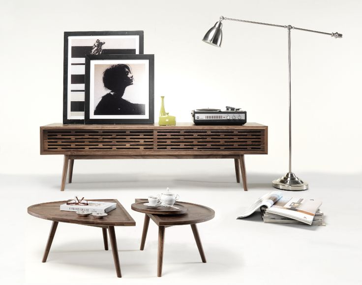 Walnut Ideas for Spring Time. RADIO sideboard and COLOMBO table now available in walnut also. #design #wood #solid #oak #walnut #crafts #spring #trends #crafts #craftsmanship #artisans #livingroom