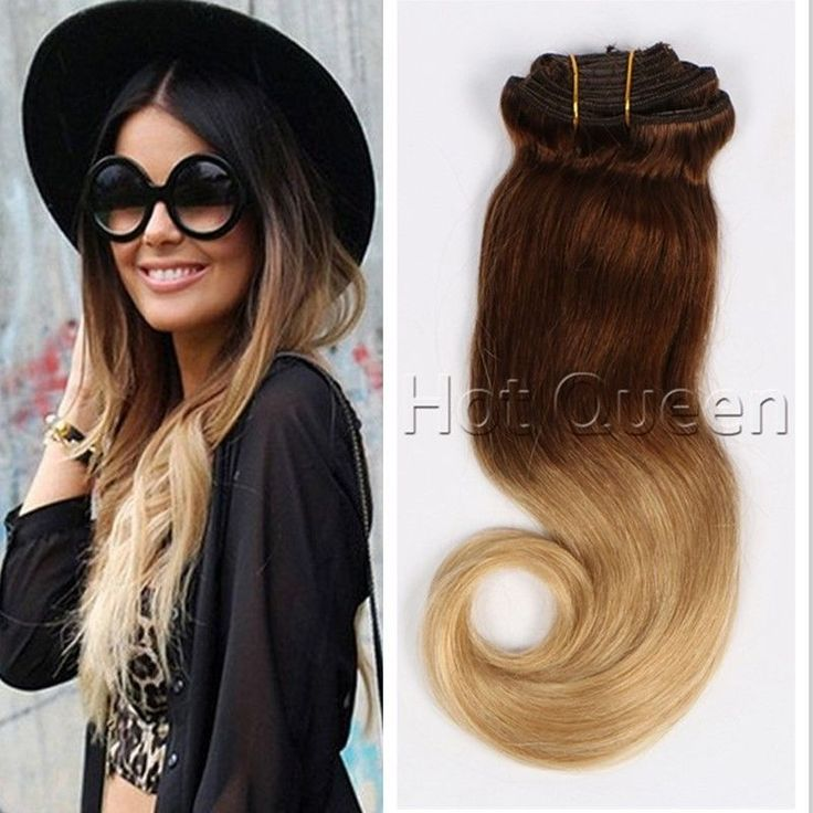 16 best ombre hair extensions images on pinterest wig blondes brazilian virgin clip in human hair extension ombre blonde clip in hair wavy hotqueen pmusecretfo Image collections