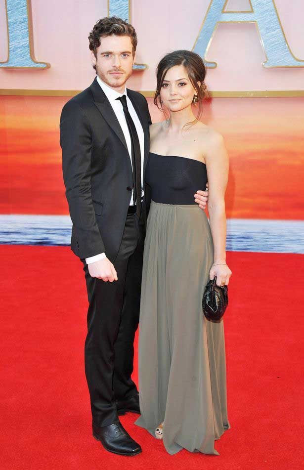Jenna and boyfriend Richard Madden attend the Titanic 3D premiere in 2012....