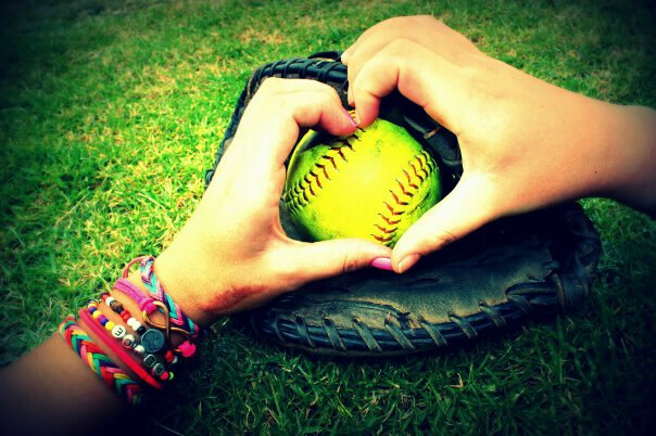 softball <3 Me and my friend taking silly pictures