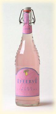 Effervé offers a wide range of lemonades from France, packaged in an engraved 25.4 oz glass bottle. Lemonade, Orangeade, French Limonade, Pink Lemonade, Ginger Lemonade
