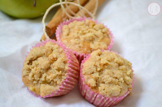 Muffins de manzana y canela por Gastroandalusi #muffin #manzana #canela #muffindemanzana #muffindecanela #AlmondBreeze