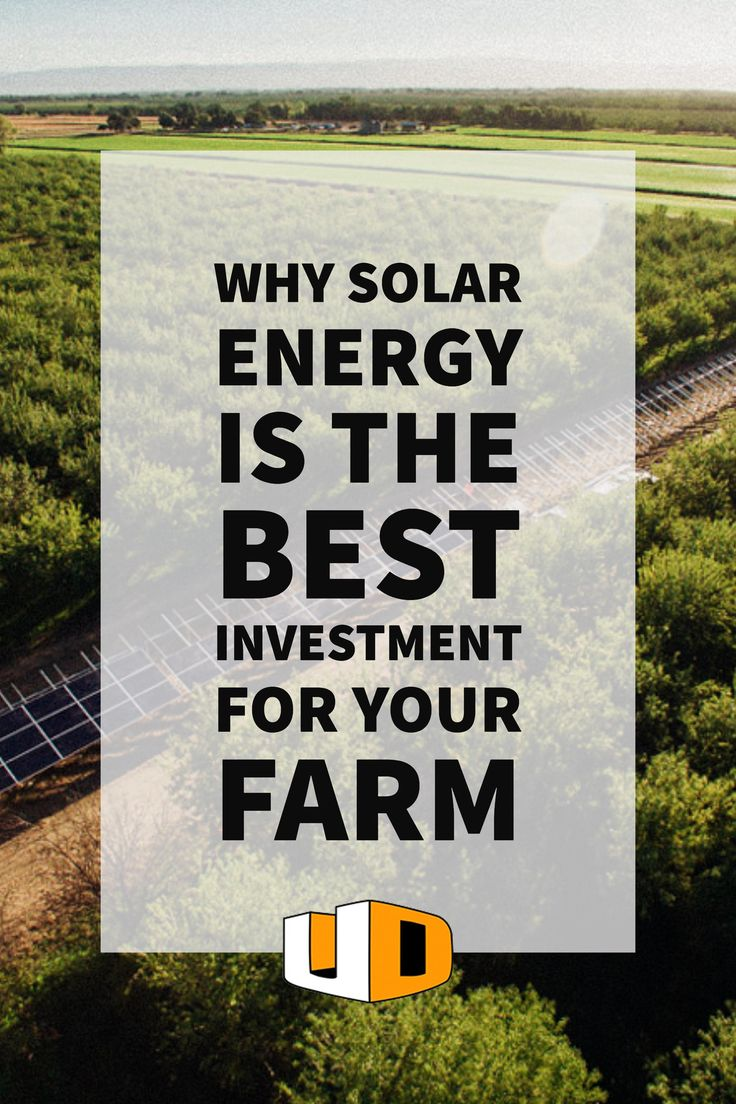 Find out why so many farmers are going solar and how you can do the same! http://urbandesignsolar.com/2017/03/solar-farm-investment-reap/