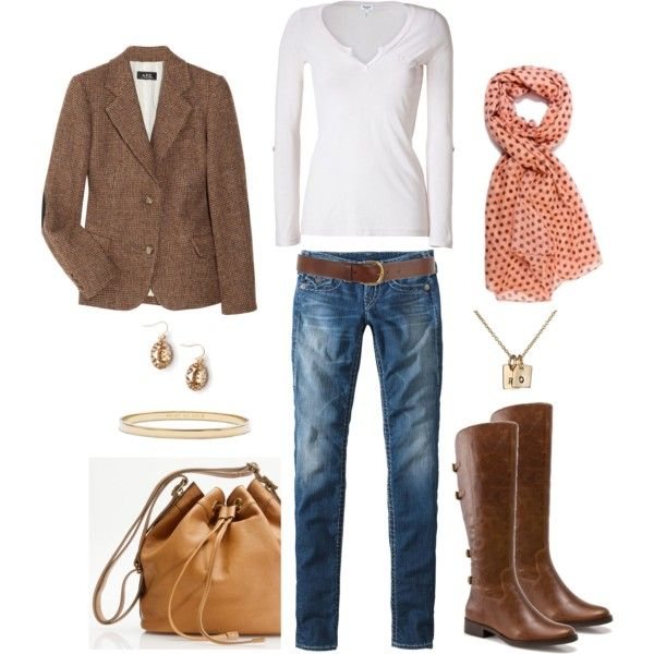 Peach and Tweed, created by bluehydrangea.polyvore.com