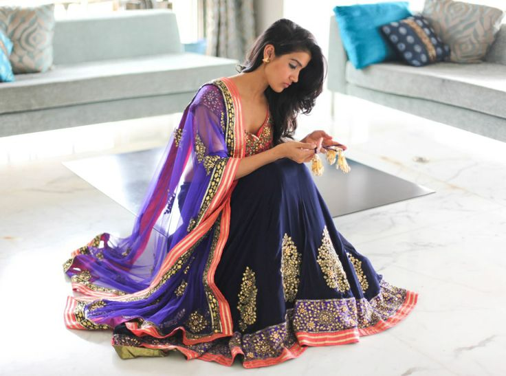 Coloured lehenga