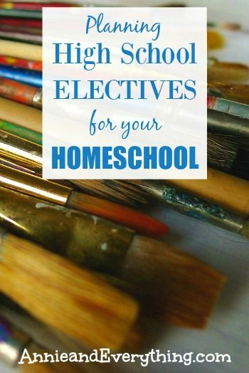 Planning for high school electives in your homeschool is nothing to stress over. Here is all the info you need about them, including a list of possibilities and curriculum recommendations! Check it out!