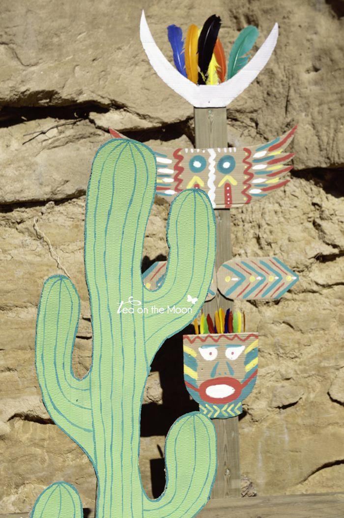 Cumpleaños indios cactus y totem