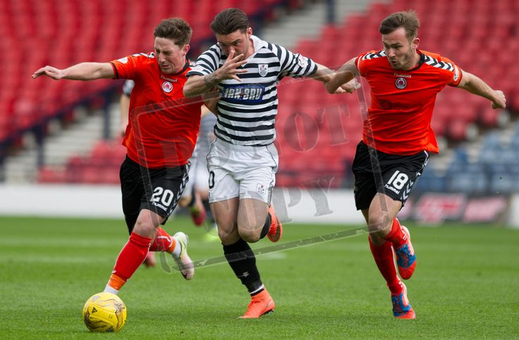 Queen's Park's Chris Duggan on the ball during the SPFL League Two game between Queen's Park and Clyde.