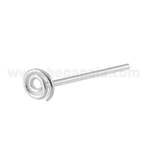 #piercing de #nariz de plata de ley en forma de #espiral. Fácil de doblar para ajustártelo tu mismo. Ideal para todo tipo de público. Un éxito! #bepapaia tienda al por mayor de bisutería.