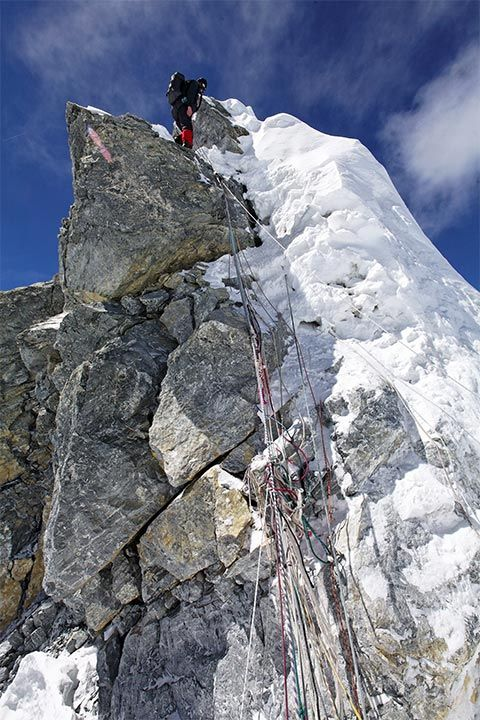 Hillary step Everest  http://www.project-himalaya.com/dispatches/2008/08-everest-17.html