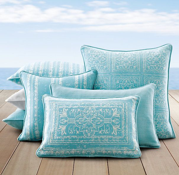 Perennials® Corsica Outdoor Pillow Covers   Pool   Restoration Hardware    $59 $89 W