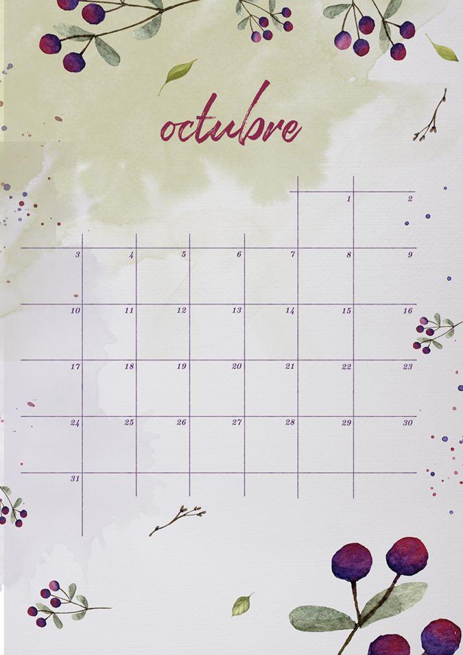 milowcostblog: calendario de octubre: imprimible y fondo