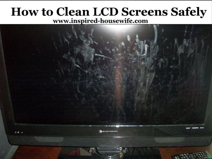 inspired housewife how to safely clean your lcd or computer screens i phones i pads touch. Black Bedroom Furniture Sets. Home Design Ideas