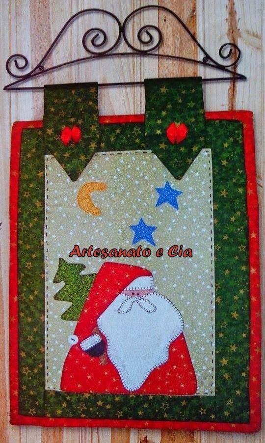 Artesanato e Cia : Panô Noel