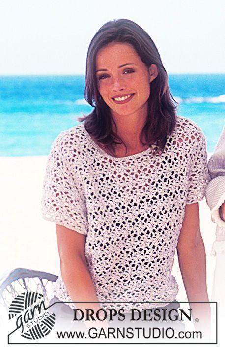 free pattern;  leuk zomers gehaakt shirt