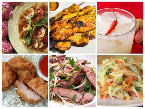 a tapas style thai dinner - links to all recipes. I like the idea of a small bites dinner