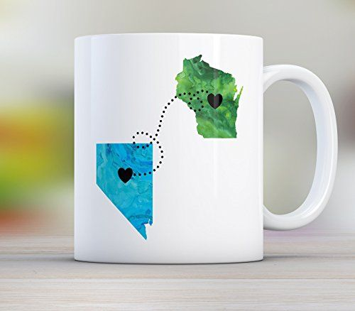 Dad Personalized Long Distance State Mug with Quote All States Available Countries and Provinces too 11oz or 15oz >>> You can get additional details at the image link.Note:It is affiliate link to Amazon.