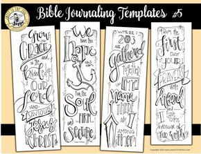 Soul Inspired - Bible Journaling Template / Color your own bookmarks- #5 - digital download  This is a single digital download including all 4 designs on one page.  Scriptures included: 2 Peter 3:18 Hebrews 6:19 Matthew 18:20 Daniel 10:12   File contains: 1 pdf file, 1 page  All designs are original artwork by Jana Kennedy-Spicer, copyright Sweet To The Soul Ministries       ** How to use this product: ** - For best results, print each page on heavy card stock, then trim each design - Use…