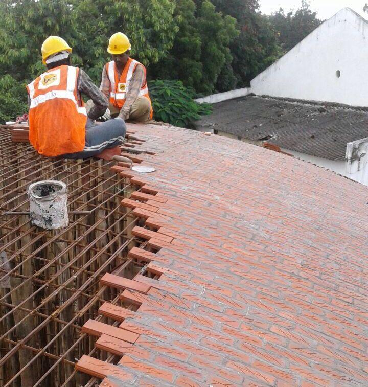 Architectural Details Sameep Padora S Undulating Brick Roof Architizer Journal Brick Roof Brick Brick Design