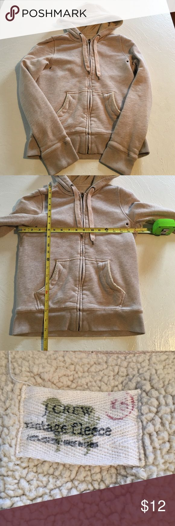 Women's J. Crew Hoodie Sweatshirt, XS You will be purchasing a Women's J. Crew Beige with pink and gray undertones Hoodie Sweatshirt, size XS. Please see photos for measurements. It is used. If you have any further questions, please do not hesitate to ask. Thanks for Looking! J. Crew Other