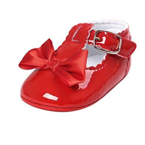 Oferta: 1.91€. Comprar Ofertas de Primeros zapatos para caminar,Auxma Zapatos de bebé, Zapatos antideslizantes del Bowknot de los bebés (12cm(6-12M), rojo) barato. ¡Mira las ofertas!