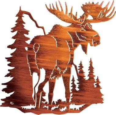 Cabela's: Moose Metal Wall Art