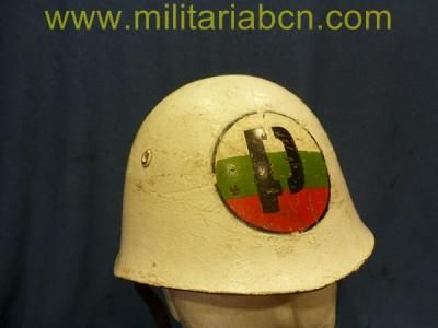 Bulgaria. Casco modelo 1972 de la Policía Militar. - Militària BCN