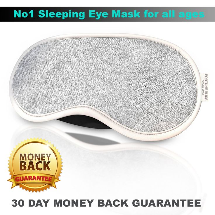 #1 Sleeping Eye Mask - Sleep Well(TM) Luxury Satin Eyemask with Ear Plugs Beauty Set from Fortune Bliss(TM) UK On Sale - Best Cute Dream Masks with Reduce Noise Earplugs for Day,Night,Go Travel / Perfect for Men,Women,Children,Girls,Kids in Grey Cotton [front] and Black Silk [back]+eBook: Amazon.co.uk: Health & Personal Care