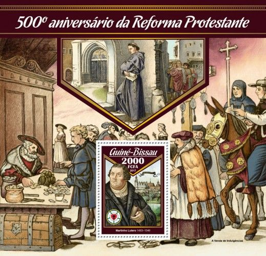 GB17010b 500th anniversary of Reformation (Martin Luther (1483–1546))