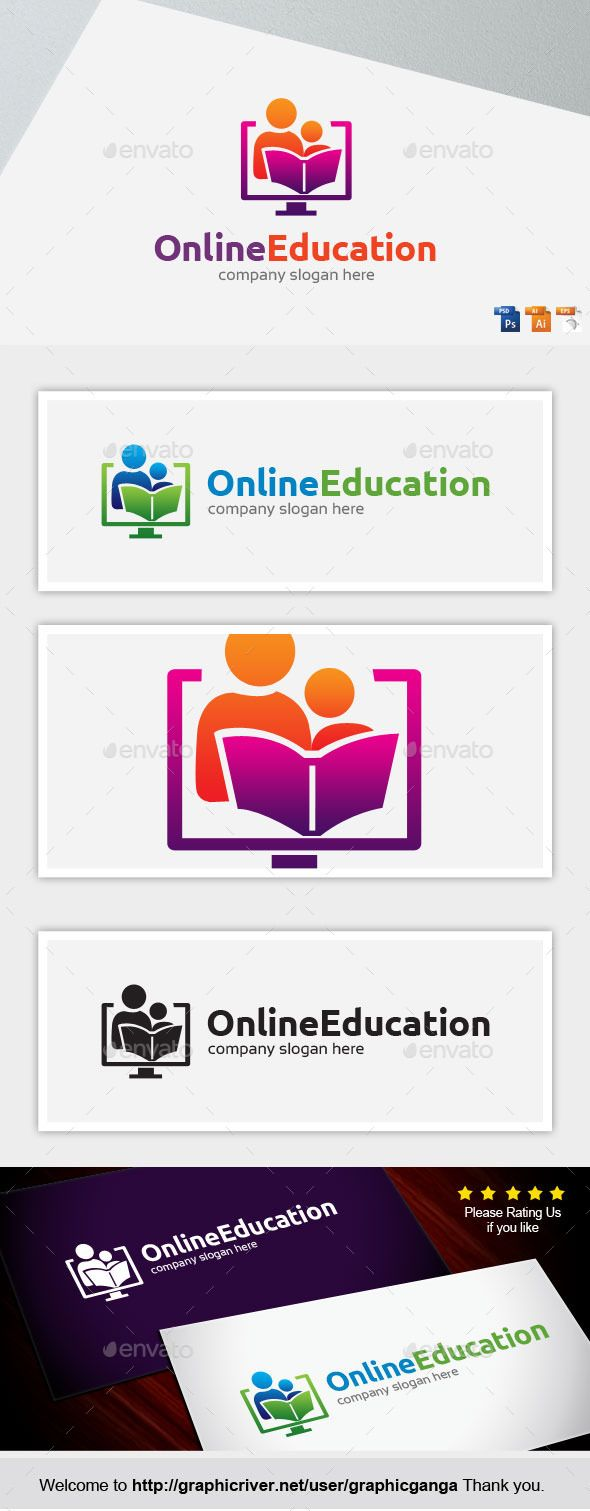 Buy online education by graphicganga on graphicriver file information color cmyk print balck invert color version psd ai ourtline ver cs ed