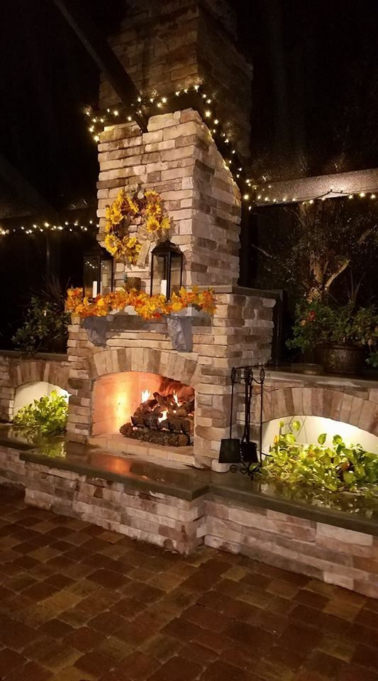 You can build a DIY fireplace like RIck and Loretta with this one. #diy #outdoorlife #outdoors #outdoorliving #outdoorfireplace #masonry #landscape #fireplace #kitchen #outdoorkitchen #outdoorcooking #grilling #backyardideas #backyardflare #pizzaoven #pizza #fireplace