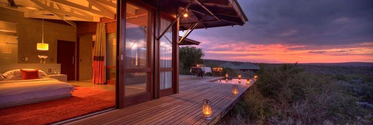 Kwandwe Ecca Lodge room and view
