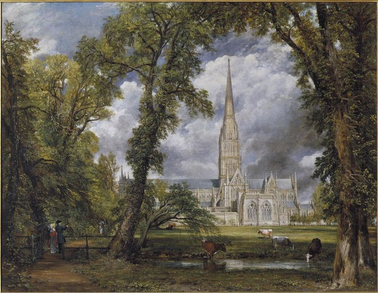 Salisbury Cathedral from the Bishop's Grounds, 1823.
