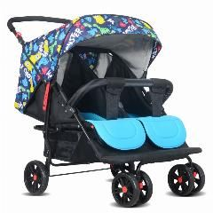 [ $24 OFF ] Multi-Function Can Enter The Elevator Twins Baby Carriages Can Be Folded To Sit Can Be Lying Double Baby Stroller Shock Wheel.
